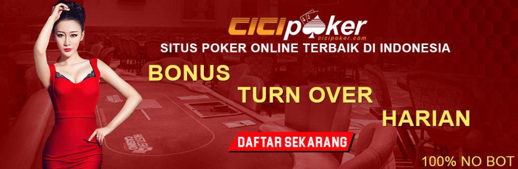 Bonus turnover judi poker online